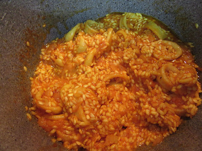 Risotto de marisco (Arroz caldoso) olla GM