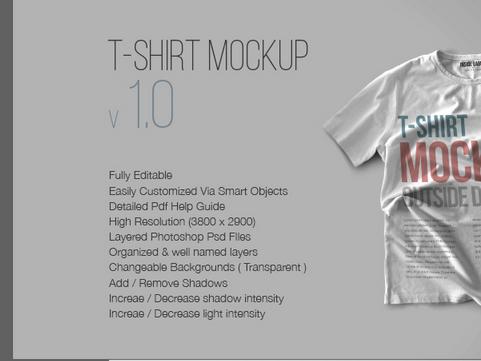 Download 10 T-Shirt Mockup PSD v1.0 Free