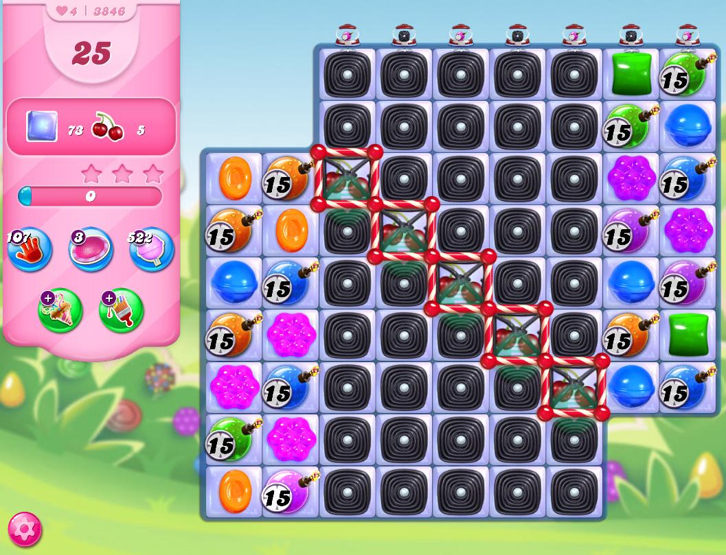 Candy Crush Saga level 3846