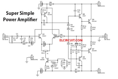 200W Super Simple Power Amplifier Circuit
