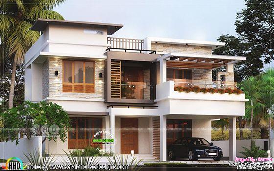 4 Bed room below ₹35 lakhs cost Kerala home