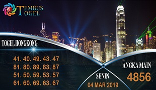 Prediksi Angka Togel Hongkong Senin 04 Maret 2019