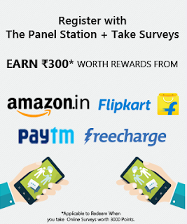 {*MAHA LOOT*} PANEL STATION SURVEY-GET UPTO RS.300 PAYTM FREECHARGE FK FOR FREE(+PROOF)-MAY'16