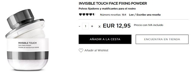 Invisible Touch Face Fixing Powder - productos más vendidos de Kiko
