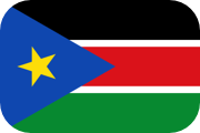 Rounded flag of South Sudan