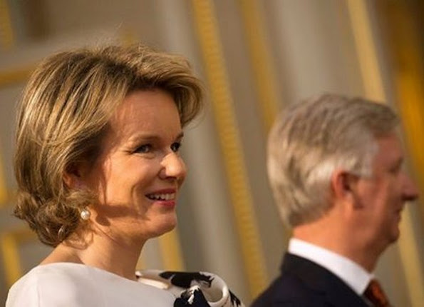 On January 7th, 2016, King Philippe of Belgium and Queen Mathilde of Belgium hosted a reception at the Royal Palace