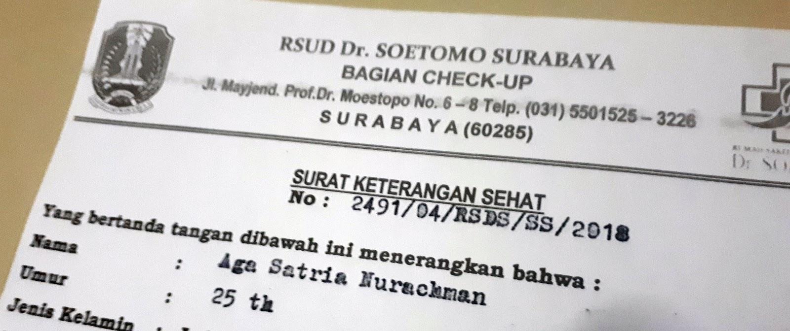 Membuat Surat Sehat Di Rsud Dr Soetomo Surabaya