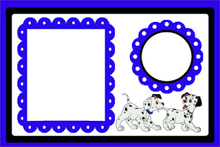 101 Dalmatians in Black and Blue Free Printable Invitations Oh