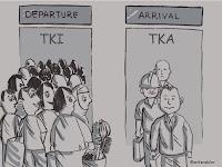 Kartun TKI vs TKA