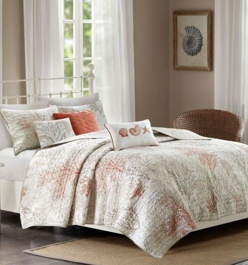 Coastal Bedding Collection Coral Sea Fan Pattern and more