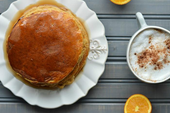 orange cinnamon pancakes