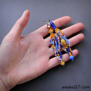 купить украшения из бисера freeform beadwork