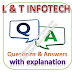 L and T INFOTECH Written Test: Reasoning, English; Questions and Answers with Explanations