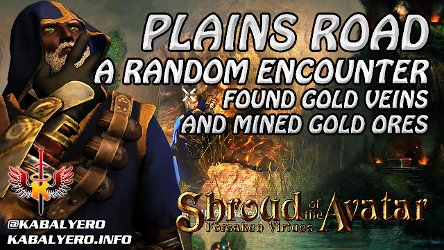 Shroud Of The Avatar Gameplay 2016 ★ Plains Road Encounter, Found Gold Veins & Mined Gold Ores