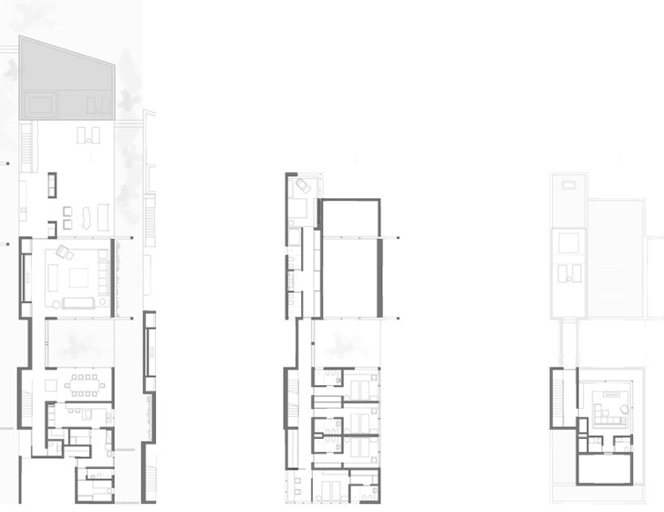 Floor plans of Modern beach house in Brazil