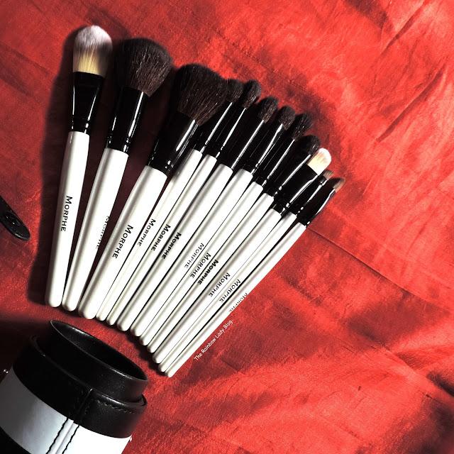 Morphe brushes Set 706 - 12 piece black and white travel set