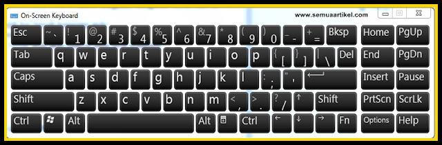 cara menampikan keyboard di layar laptop