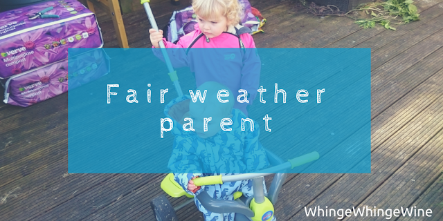 Fair weather parent: My daily routine with a toddler and a baby