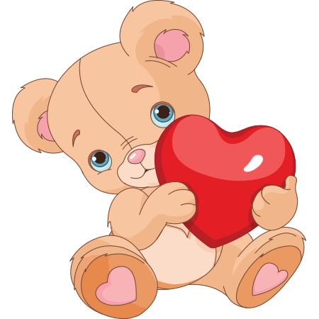 Bear with Red Heart