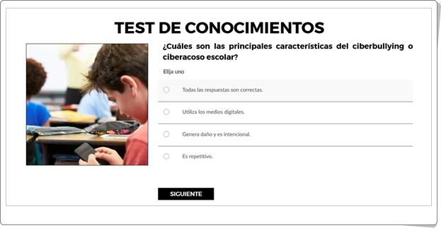 TEST DE CONOCIMIENTOS SOBRE CIBERSEGURIDAD