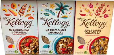 Kellogg's No added sugar granolas varieties