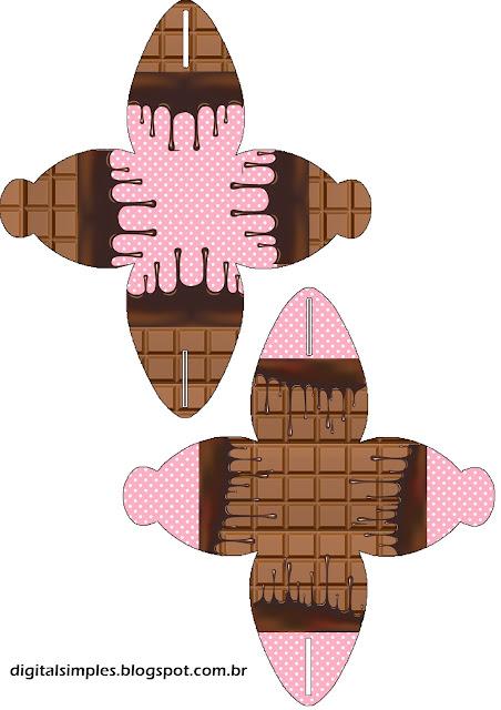 Caja para cupcakes, chocolates o golosinas de Chicas Haciendo Cupcakes.