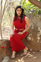 Telugu Actress Zahida Sam Latest Pos in Red Gown at RF Films New Movie Opening  0245.JPG