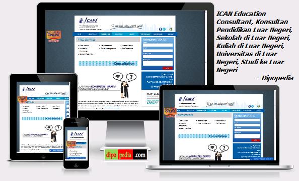 Gambar Laman Situs ICAN Education Consultant: Konsultan Pendidikan Luar Negeri Meliputi Sekolah, Kuliah, Universitas, dan Studi ke Luar Negeri