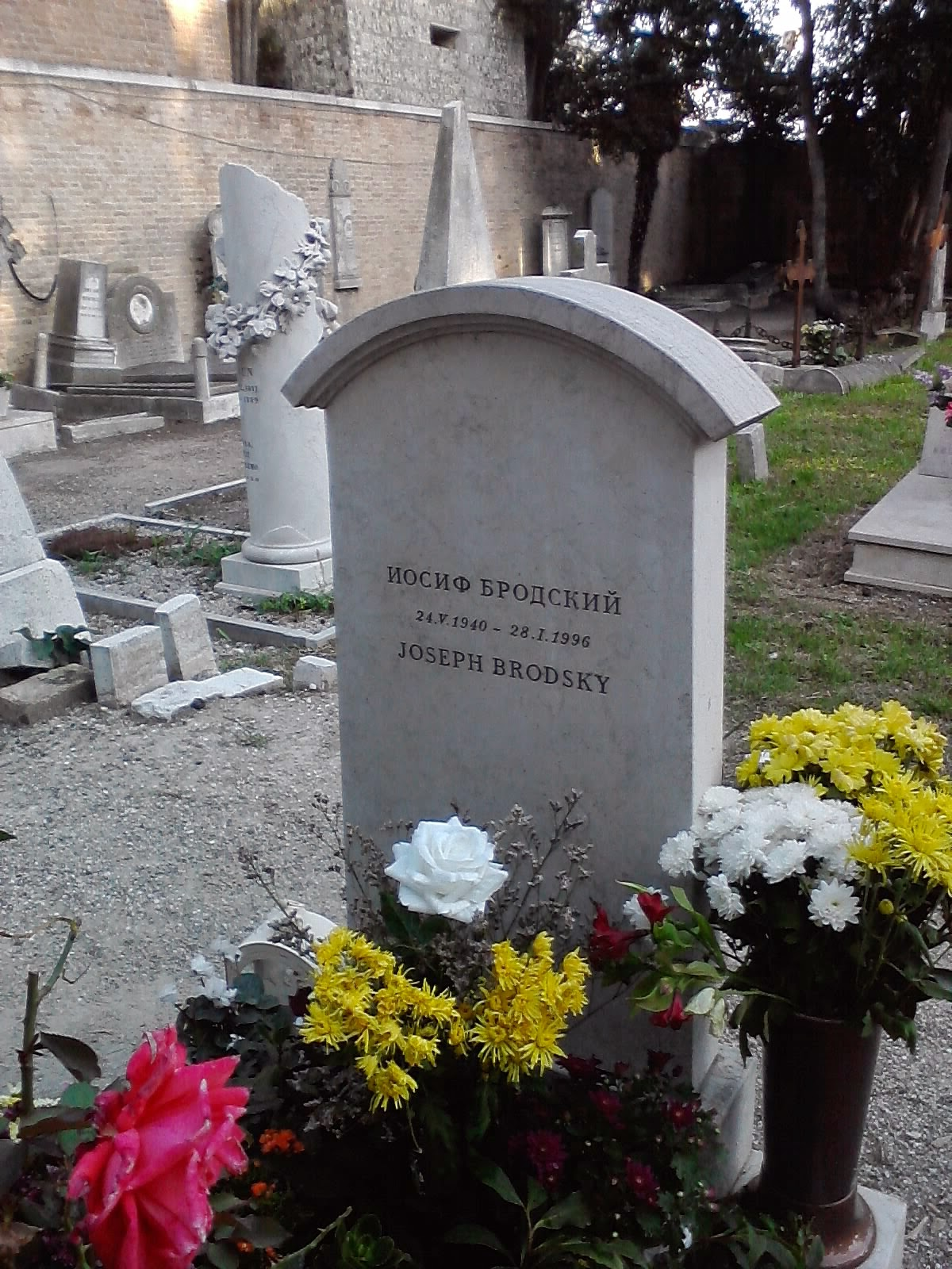Jospeh Brodsky grave - Venice, Italy - Photo by Cat Bauer - Venice Blog