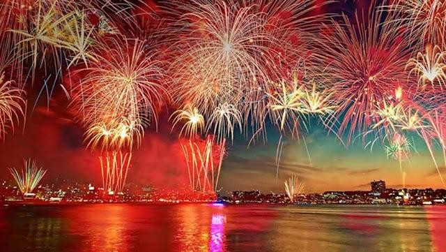 الألعاب النارية فى دبي ليلة رأس السنة 2018