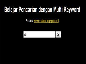 membuat sistem pencarian di website