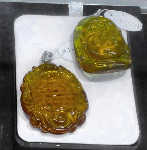 carved Buddha amber