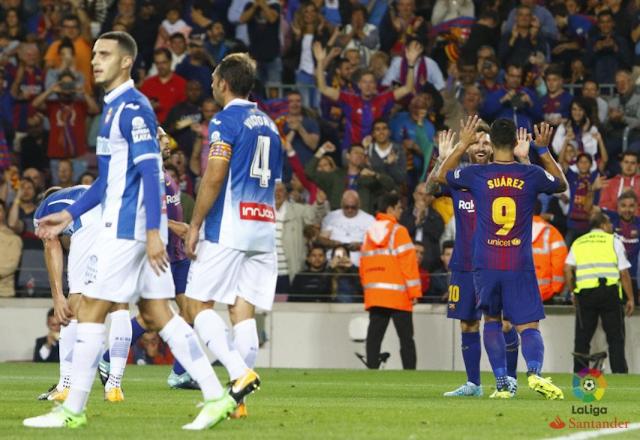 LA Liga: Barcelona 5-0 Espanyol, Messi Hattrick!!!