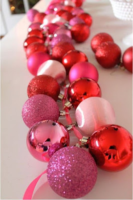 Christmas garland made from ornaments