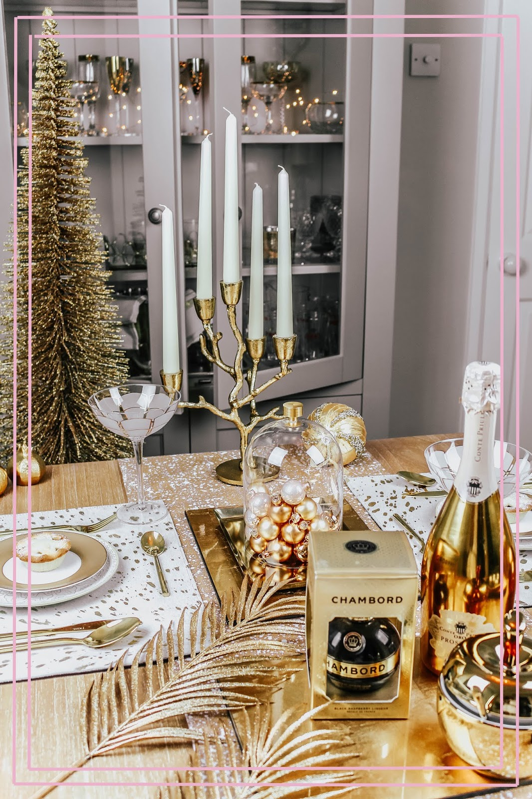 How to Create Luxury Gold Table Setting Display