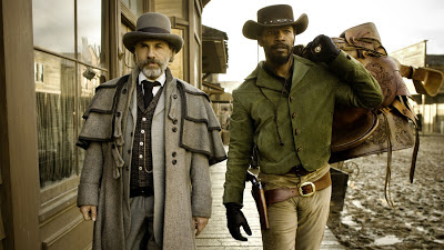 Christoph Waltz as Dr. King Schultz, Jamie Foxx as Django, in Django Unchained, Directed by Quentin Tarantino