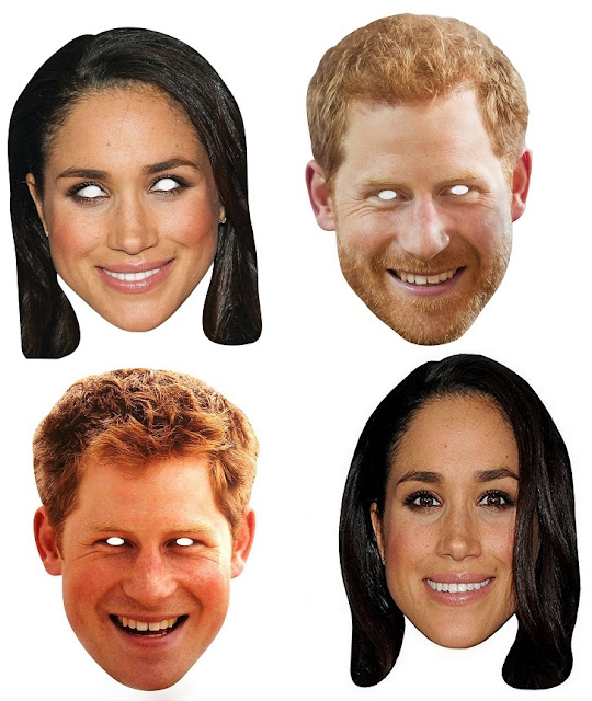 Megan Markle and Prince Harry Free Printable Masks.