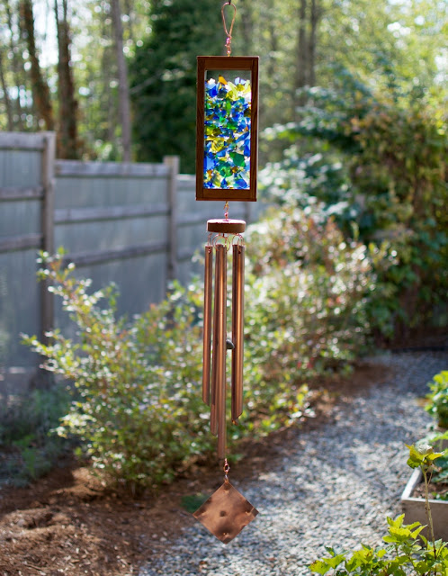 Large outdoor kaleidoscope wind chime: Coast Chimes