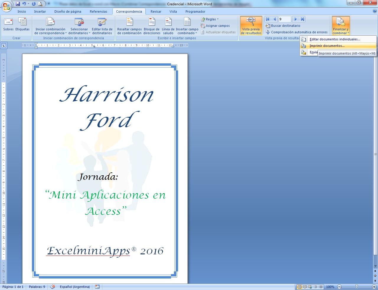 mini aplicaciones en Excel: Pasar datos de Excel a Word con Macro ...