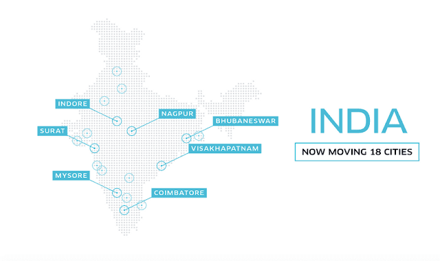 Uber India new cities Bhubaneswar, Coimbatore, Indore, Mysore, Nagpur, Surat and Visakhapatnam