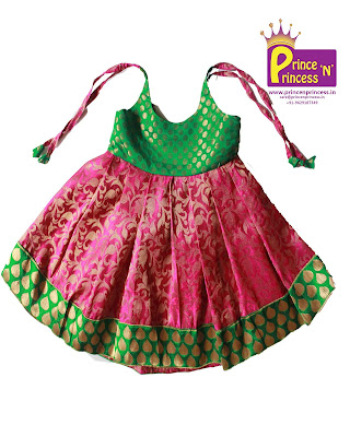 New born langa pavadai pattu frock silk pattu pavadai kutties naming cradle ceremony