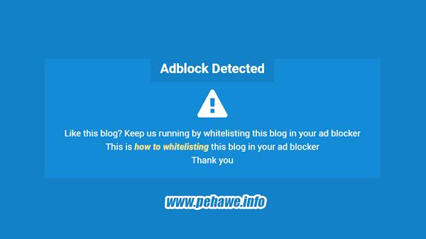 Membuat Notifikasi (Pesan) Adblocker Adsense Ala Arlina Design