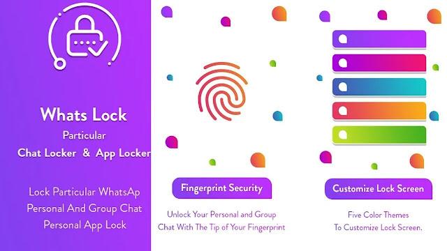 تطبيق Whats Lock لقفل و حماية دردشة الواتس أب من المتطفلين
