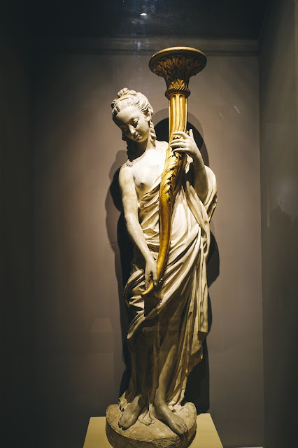 Torchère figure(one of a pair)