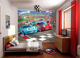 habitación tema coches