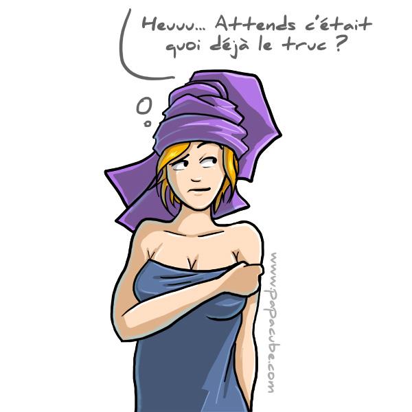 maman sortie de douche