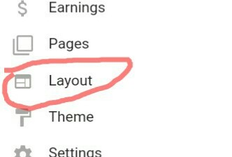 Click on Layout