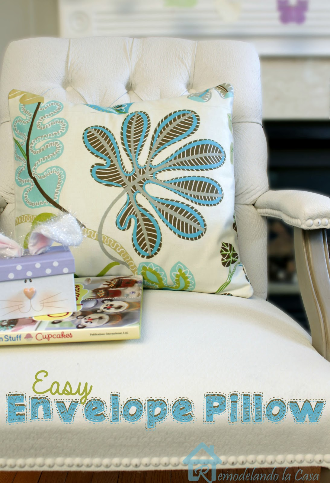 flower designs for Spring envelope pillows DIY