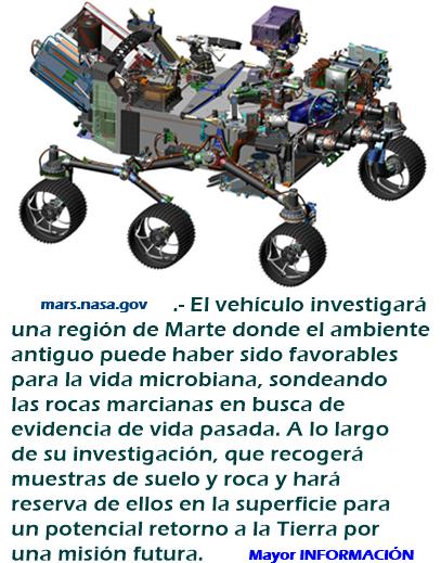 El Mars Rover de la NASA progresa hacia su Lanzamiento