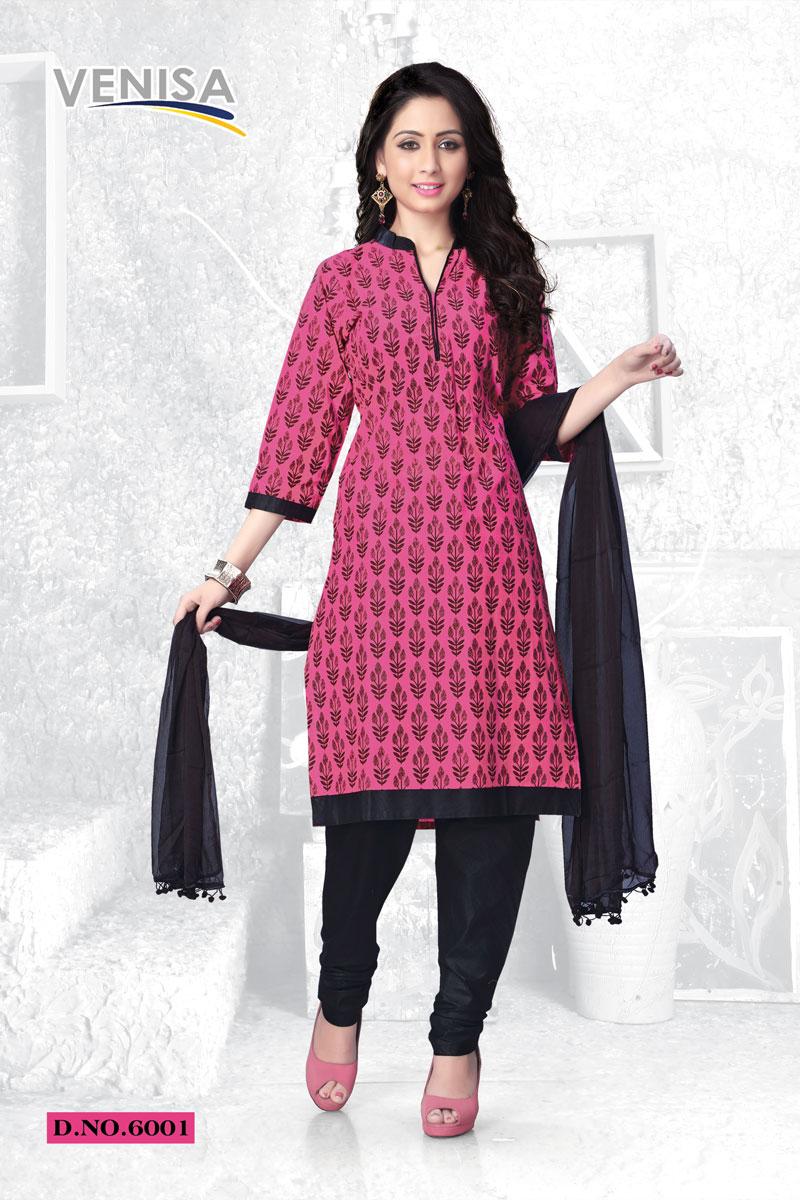 Venisa Summer Fashion – Latest New Churidar Cambric Cotton Dress Material
